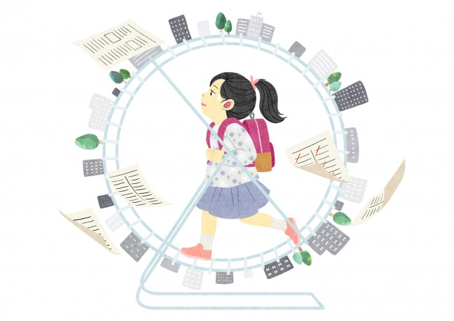 대한민국 청소년들은 대부분 시험과 학교, 학원에 파뭍혀 살고 있는 현실이다. - GIB 제공